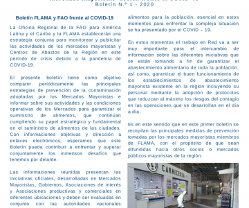 Mercados mayoristas: acción frente al COVID-19 Boletín N.o 1 - 2020